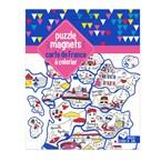 Puzzle magnets carte France à colorier