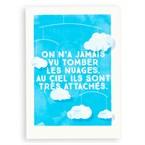 Carte Les nuages très attachés