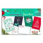 18 cartes postales de Noël