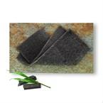 Serviette éponge Konjac au charbon