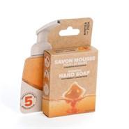 5 écorecharges savon mousse