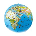 Globe gonflable animaux