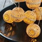 Guirlande d'intérieur sphères de bambou