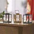 Coffret 3 photophores mini lanternes