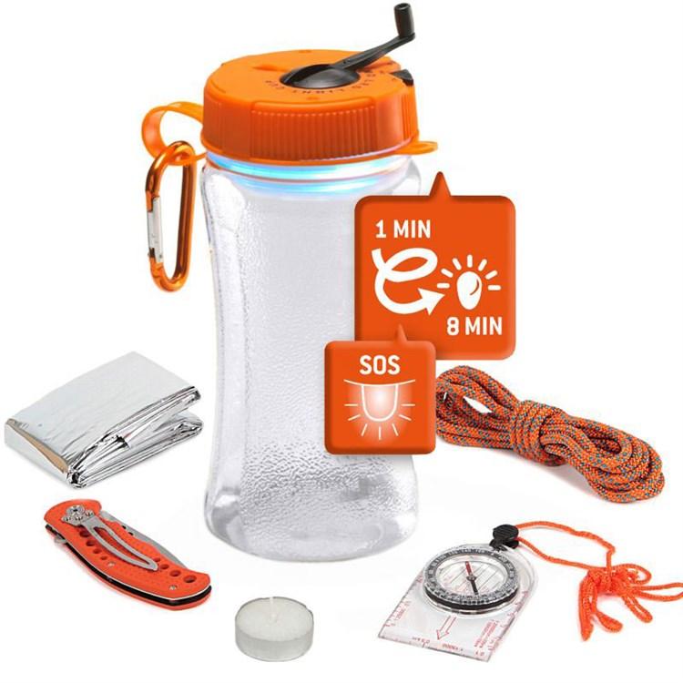 Lanterne Dynamo Kit de Survie - Natures & Découvertes