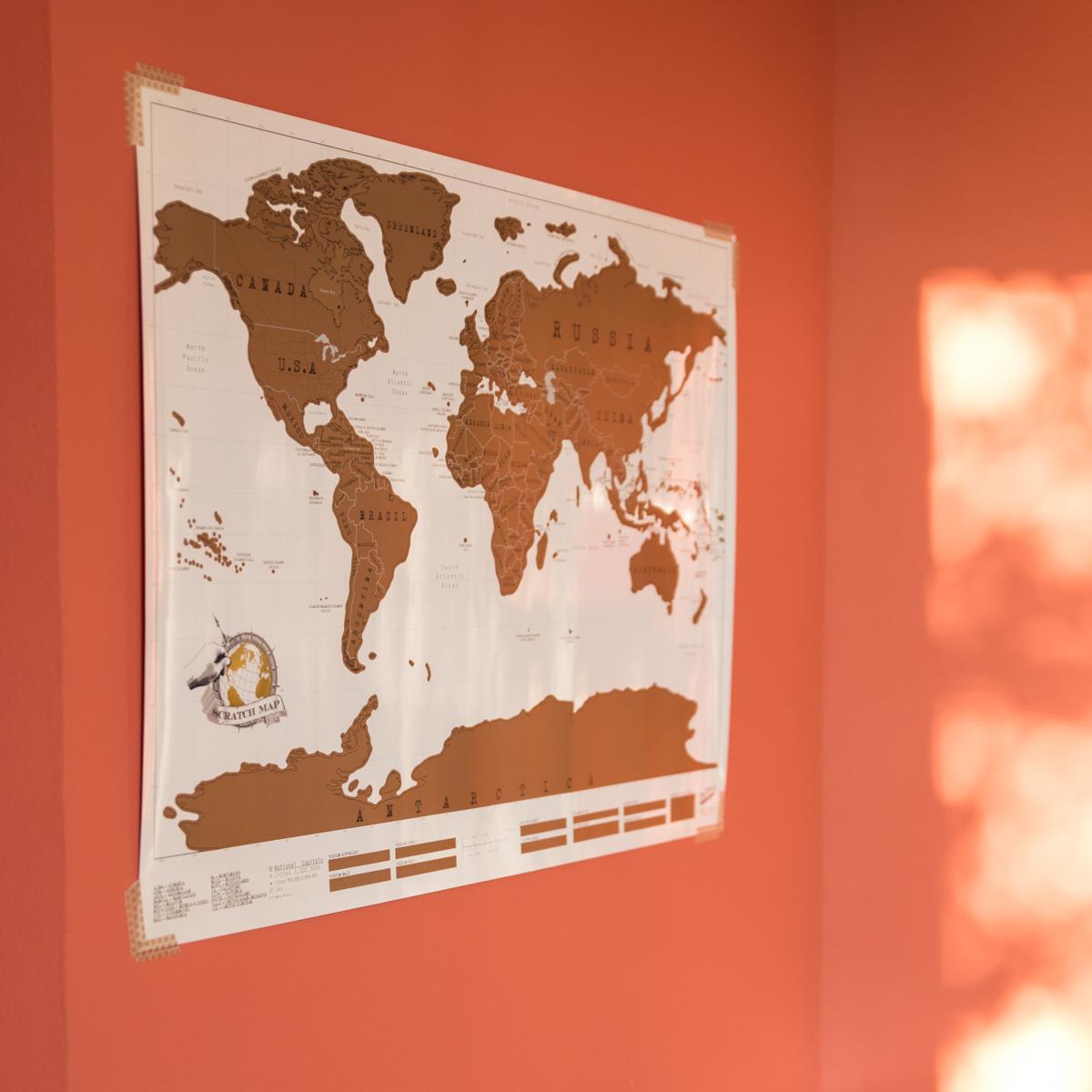 Carte Du Monde à Gratter Nature Découvertes