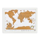 Mini carte du monde à gratter