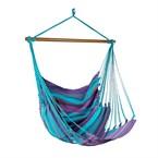 Chaise hamac cocon turquoise/violet