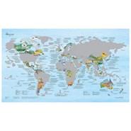 Carte du monde à gratter Beaux Voyages
