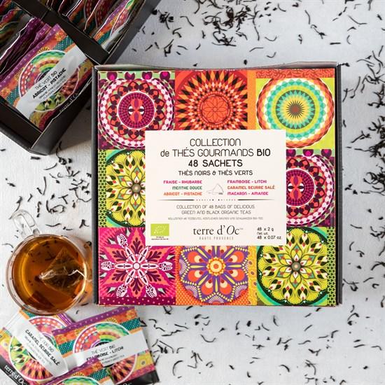 Coffret de 48 mousselines de thés bio