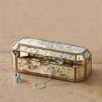 Boîte à bijoux miroir vieilli