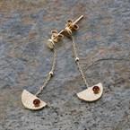 Boucles d'oreilles grenadine pendantes