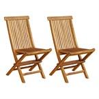 2 chaises baya - teck huilé