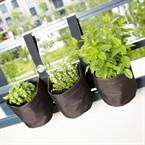 Triple jardinière suspendue pvc - balcon