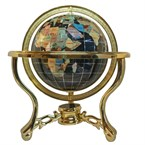 Globe terrestre 15 cm 3 pieds doré noir