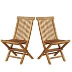 Lot de 2 chaises de jardin en teck huilé