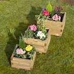 Lot 3 jardinières carrée primo