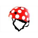 Casque vélo enfant rouge pois blanc smal