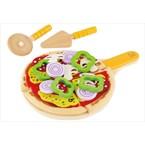 Jouet pizza en bois et tissus hape
