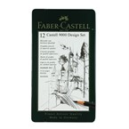 Boite de 12 crayons castell 9000 design