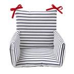 Coussin de chaise haute bébé marin
