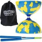 Kit diabolo jester bleu et jaune + bague