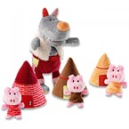 Marionnettes les 3 petits cochons lillip