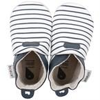 Chaussons bébé 9-15 mois white navy stri