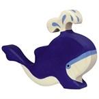 Baleine bleue - jet d'eau