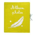 Album photo lin motif jaune