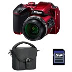 Bridge coolpix b500 rouge + etui + carte