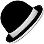 Chapeau de jongle tumbler noir et blanc