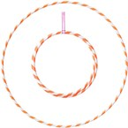 Hula hoop 1m - 20mm pliable - orange et