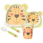 Coffret 5 pieces fibre bambou tigre