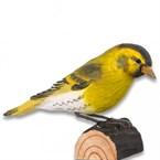 Tarin des aulnes oiseau en bois grandeur