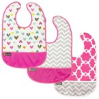 Lot de 3 bavoirs kushies 6-12 mois pink