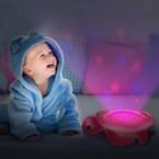 Veilleuse musicale et projection étoilée