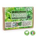 Jardin d'aromates 12 sachets de graines