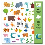 160 stickers 4-8y animaux djeco