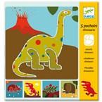 Pochoirs 4-7y dinosaures djeco