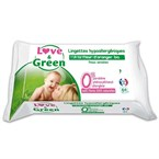 Paquet de 64 lingettes love and green