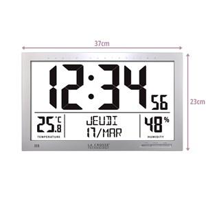 Horloge murale grand écran WS8013-SIL | Nature & Découvertes