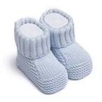 Chaussons bébé en tricot - coton