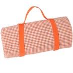 Nappe pique-nique vichy orange 280x140cm