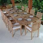Salon de jardin en teck ecograde mahina,