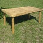 Table de jardin en bois traite 160x90cm