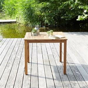 Table de jardin carrée en bois d\'acacia | Nature & Découvertes