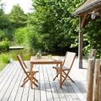 Salon de jardin bois d'acacia 2 places