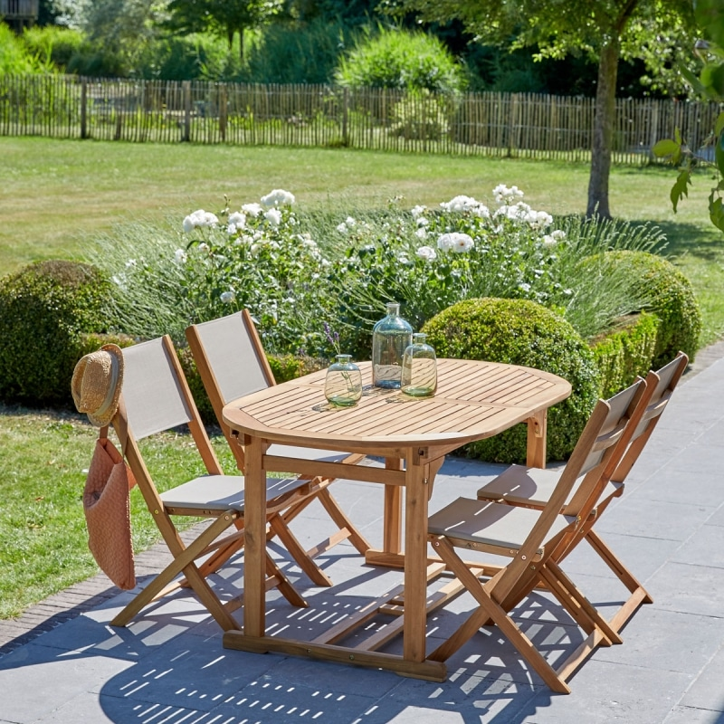Salon de jardin acacia 6 à 8 places | Nature & Découvertes