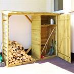Abri-buches avec rangement en bois